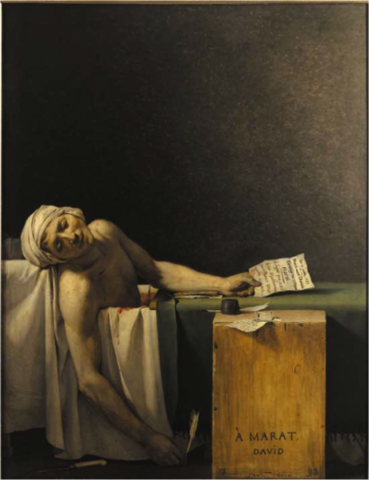 Death of Marat, Jacques-Louis David