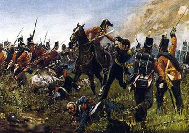 Allied British, Dutch, and German forces defeat Napoleon at Waterloo