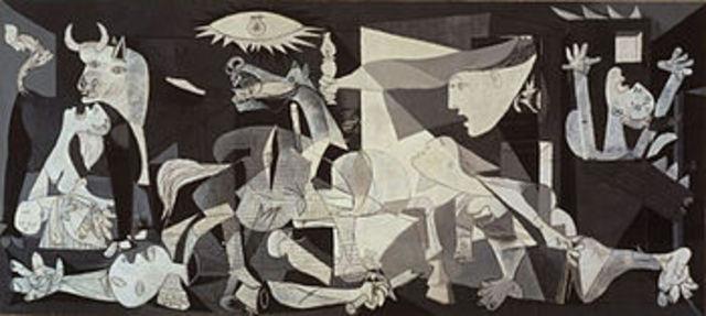 Picasso paints Guernica