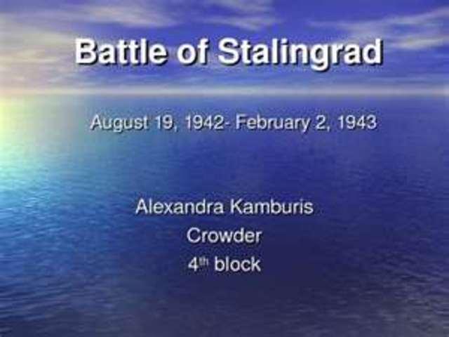battle of stalinggrad
