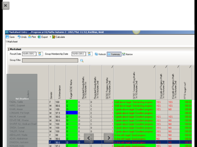 Marksheets in SIMS generate reports successfully