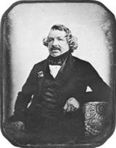 Louis Daguerre invents faster, longer lasting photograph