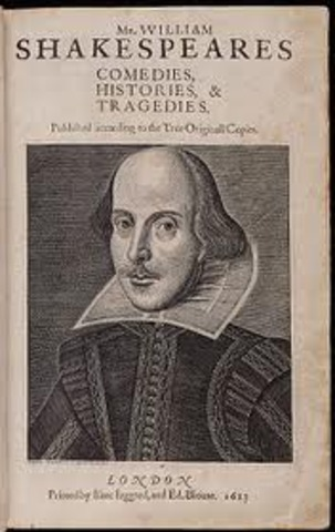 Shakespeare writes his first play