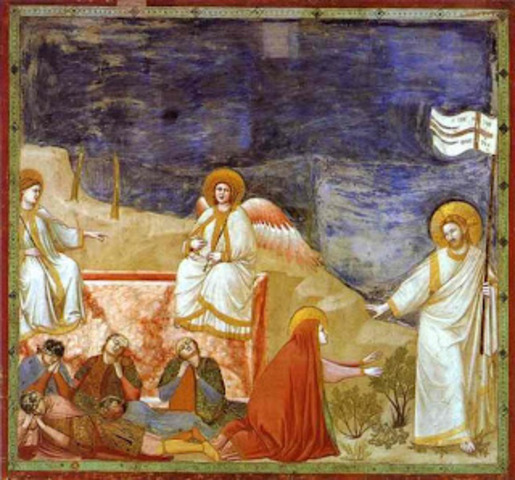"""Noli me tangere """"Touch me not""""  by Giotto"""