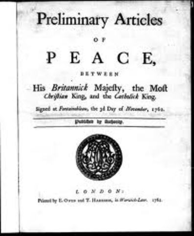 sign prelininary articles of peace
