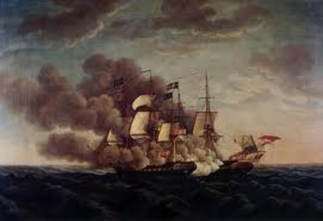 American ship Chesapeake is attacked by the British