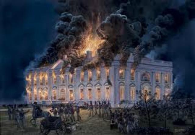 The British Troops burned Washington