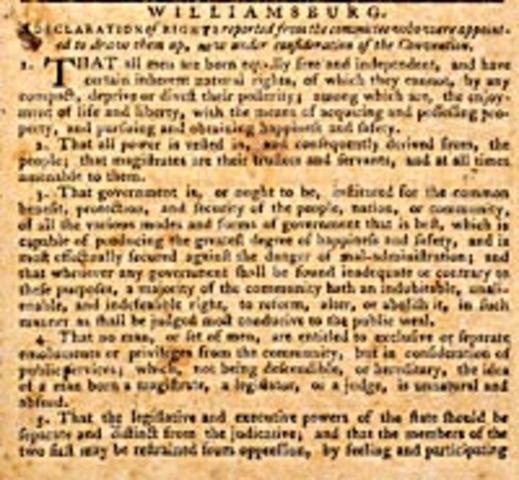 Virginia Declaration of Rights {Tiller}