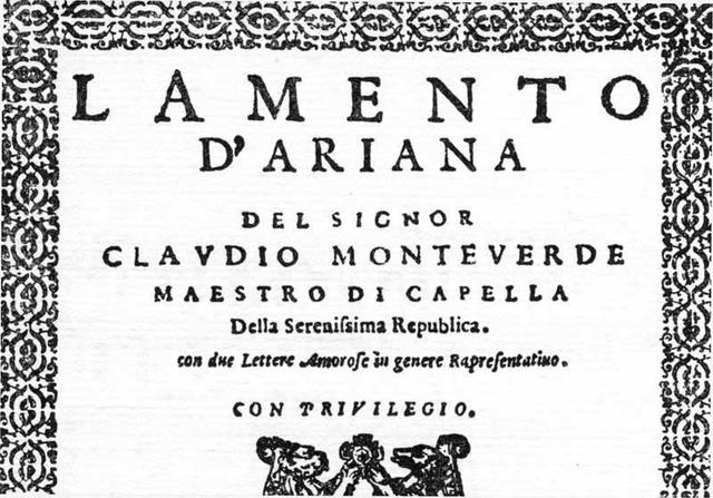 Lamento d'Ariadna de Monteverdi