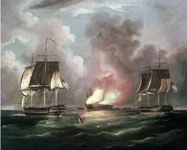 John Paul Jones captures the Serapis - September 23, 1779