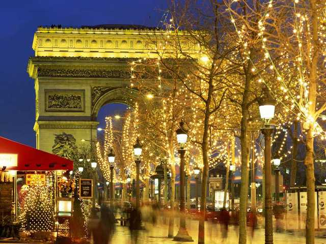 then went to paris france for a month