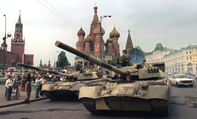 Coup begins in Soviet Union