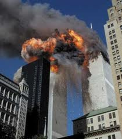 Strikes on Twin Towers New York