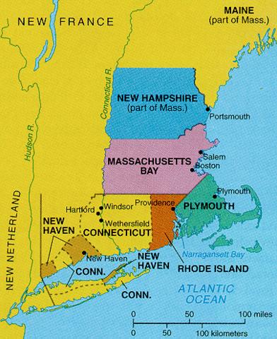Massachusetts was formed