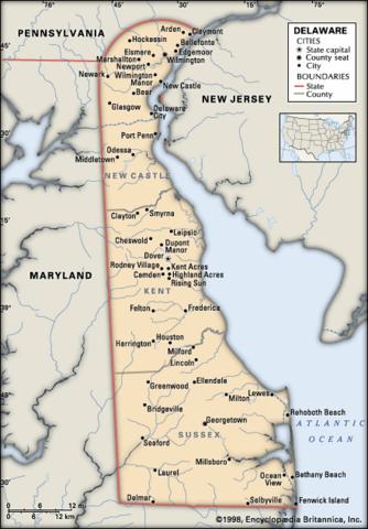 Delaware was formed