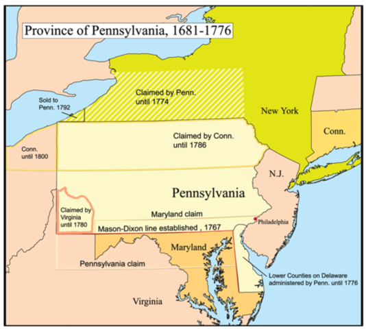 Pennsylvania was formed