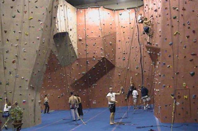 Marks first rock climb