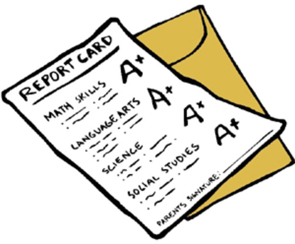 1st report card