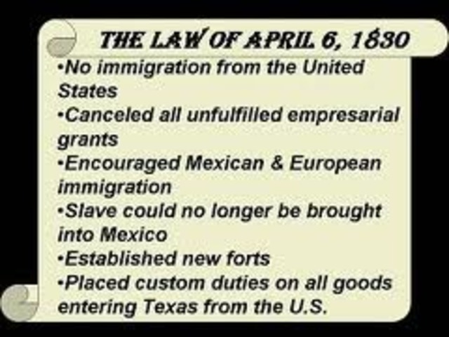 •Law of April 6th, 1830
