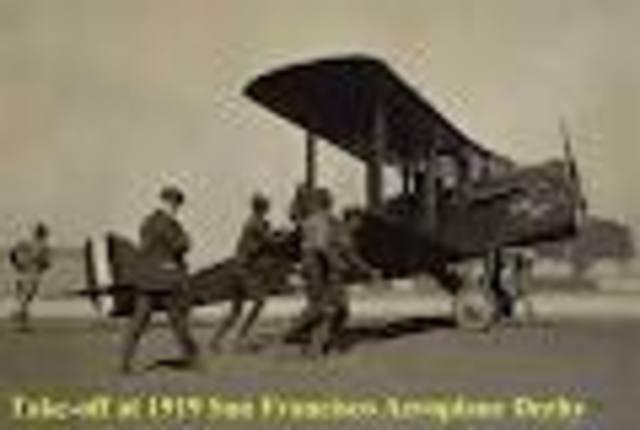 Amelia saw her First Airplane
