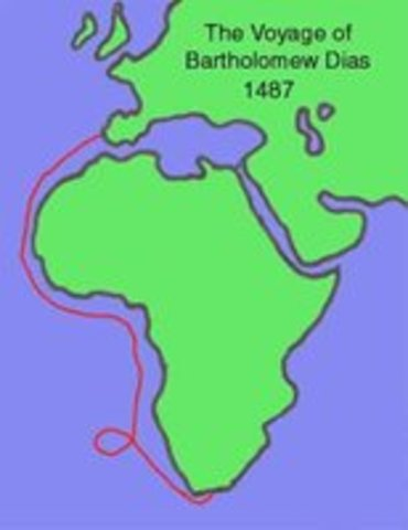 Bartolomeu Dias Rounds the Southern Tip of Africa