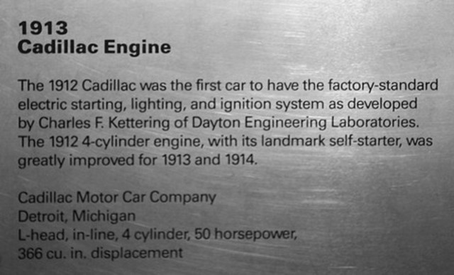 Kettering invents electric starter for Cadillac