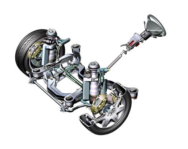 Mercedes-Benz makes independant front suspension