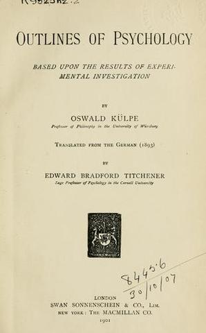 Oswald Kulpe founds systematic experimental introspection