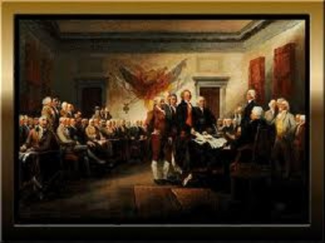 The Declaration of Independence was approved