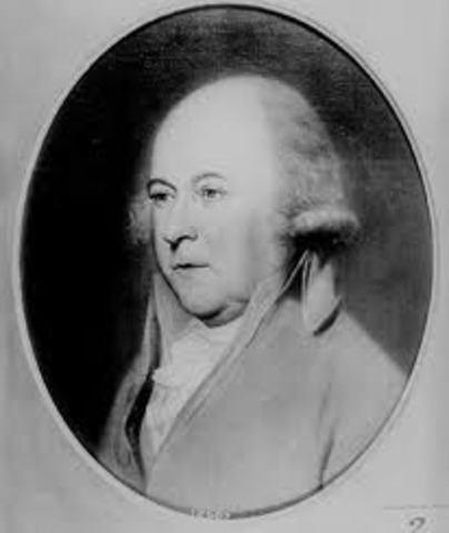 Washington announced that he would not be president for three years in a row, so John became the president.