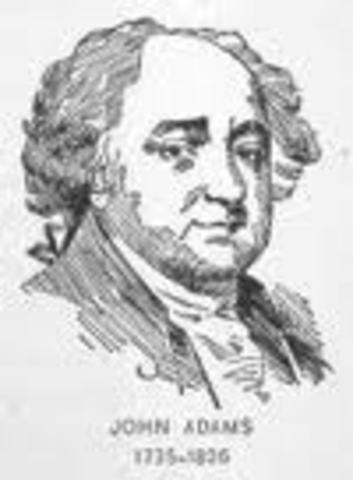 John Adams recieved the second-most votes and became vice president