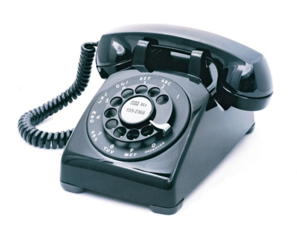 AT&T introduces the famous black rotary Model 500 telephone