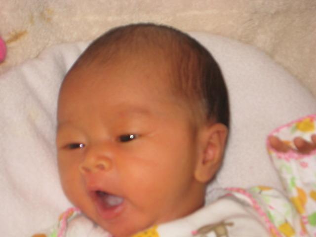 New born baby sister