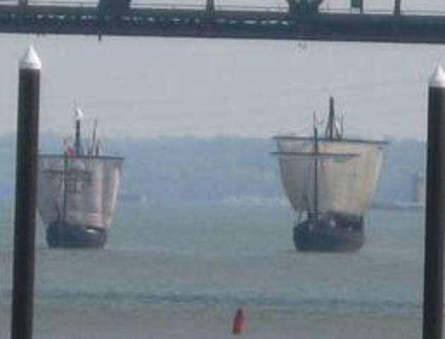 The Nina and the Pinta Arrived in spain
