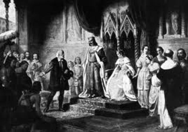 Columbus Returned to Spain