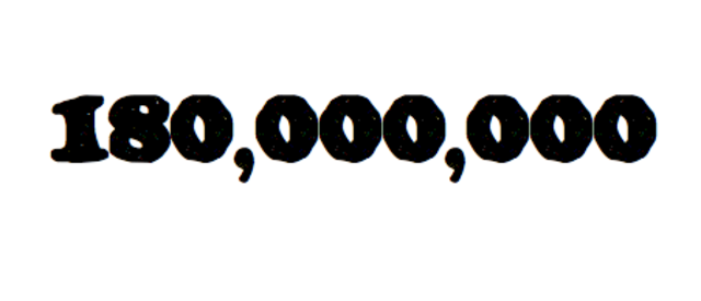The volume of telephone calls reaches 180 million a day