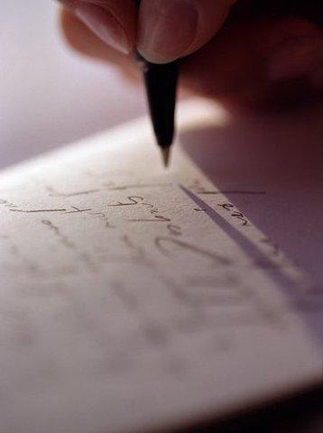 Start to writing.