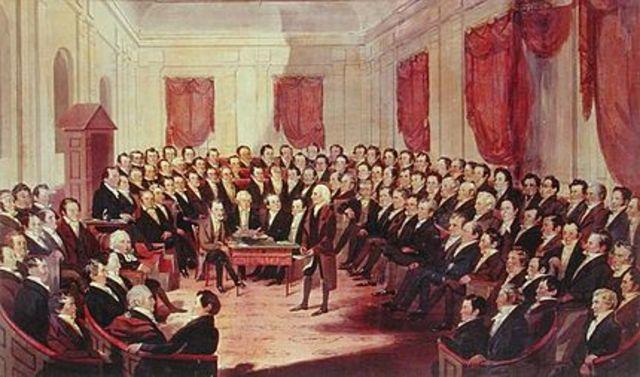 Virginia Constitutiion Adopted (Amber)