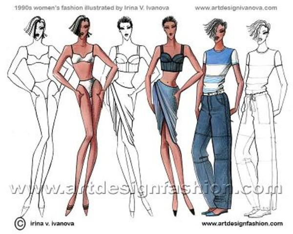 1990- The 1990s was the genesis of two sweeping shifts in Western fashion: the beginning of the rejection of fashion which continued into the 2000s among a large section of the population, and the beginning of the adoption of tattoos,[1] body piercings as