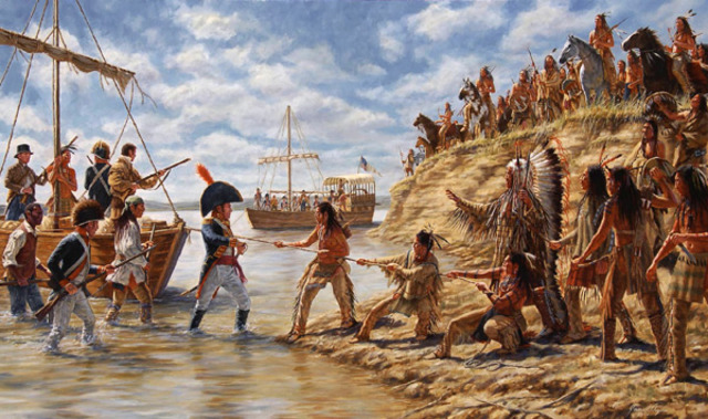 Dispute with Teton Sioux over Keelboat