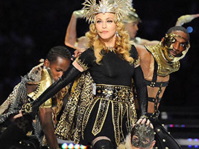 Madonna performs at Super Bowl 46 halftime show