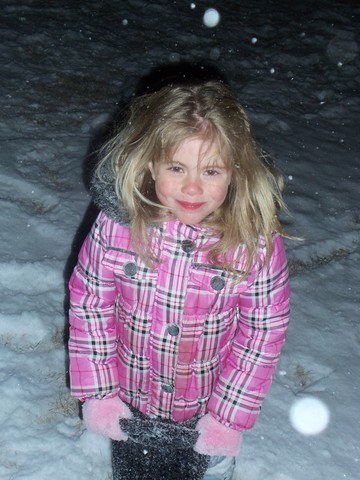 Caitlyn's first time in the snow!
