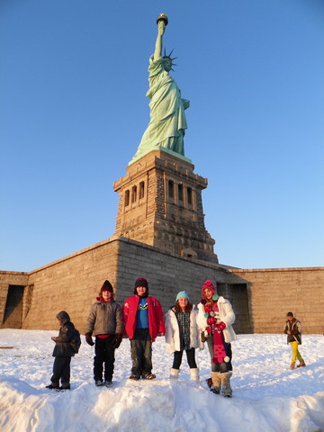 At the Statue of Liberty!