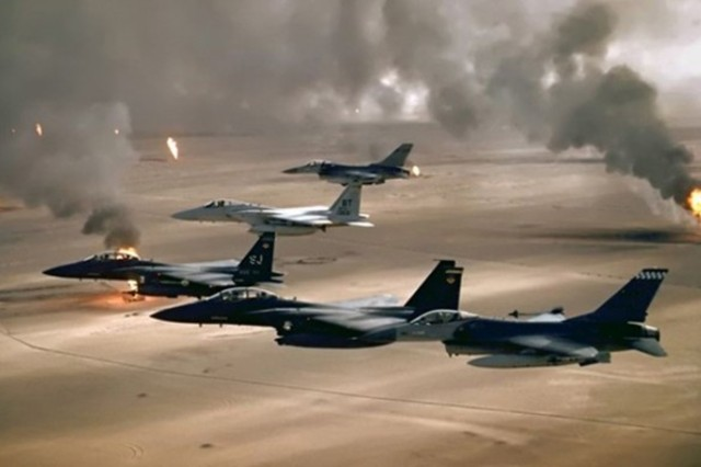 Operation Desert Storm begins!
