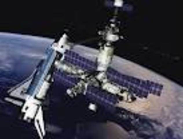 U.S. shuttle docks with Russian space station