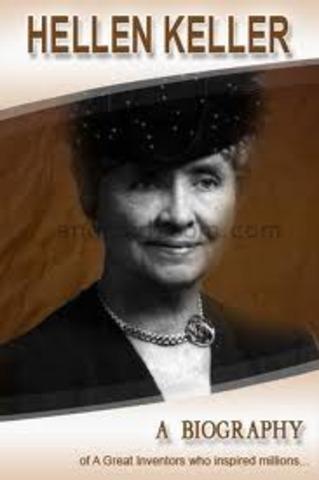 Oh my gosh! It's Helen Keller!