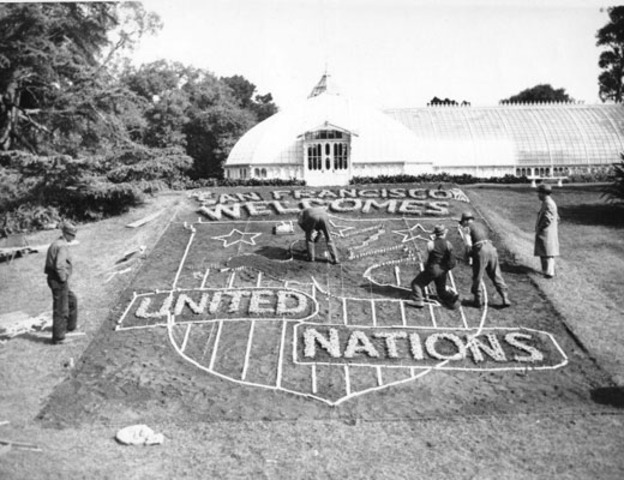 •The establishment of the United Nations in San Francisco
