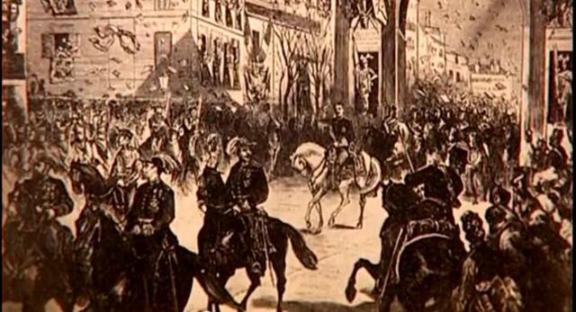 Alfonso XII hace su entrada oficial en Madrid
