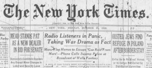 War of the Worlds Radio Broadcast