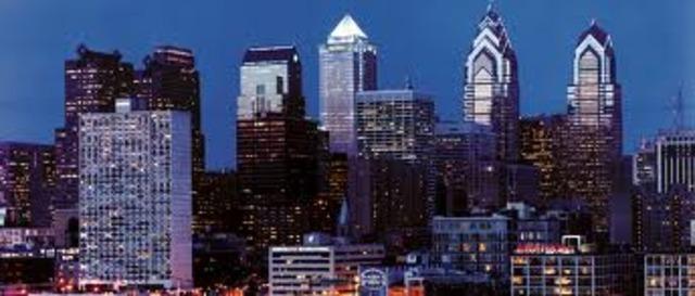 Arriving in Philadelphia
